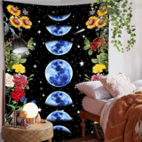 Deals For Less - Wall Tapestry Home Decor, Blue Moon Design.