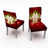 DEALS FOR LESS -2 Pieces Christmas Chair Covers, Christmas Bell Design.