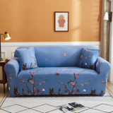 DEALS FOR LESS - 2 Seater Sofa Cover, Love Seat Stretchable Couch Slipcover,,Blossom Design.