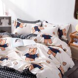 DEALS FOR LESS  - Single Size, Duvet Cover , Bedding Set of 4 Pieces, Bear Design