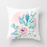 Deals For Less - Kalanchoe With Pink Flower Design Cushion Cover.