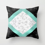Deals For Less - Modern Geometry Marble Design Cushion Cover.