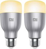 Xiaomi Mi Smart Led Bulb 2Pcs Package Global Version Colorful 800 Lumens 10W E27 Lamp Voice Control Work