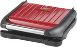 George Foreman Medium Steel Grill Family, Red 1650W - 25040