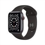 Apple Watch Series 6 (GPS + Cellular) Space Gray Aluminum Case with Black Sport Band