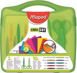 Maped Quick-Change Craft Scissors Case With 10 Blades, Kids, 5 Inch, Blunt Tip, Right & Left Handed (601010)