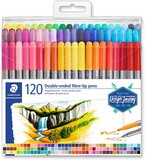 Staedtler Staedtler Double-Ended Fiber-Tip Pens, Washable Ink, Fine & Bold Writing and Coloring Tips, 120 Assorted Colors, 3200 TB120
