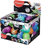 Maped 1 Hole Clean Grip Pencil Sharpener - Assorted Colours
