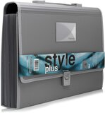 Foldermate Grey Expanding File Case With Handle