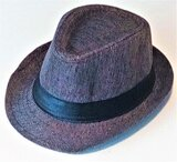 Fedora Hat Kids Size Dark Brown Size Great Casual Style Outdoor Fashion Trending Gift 100% Cotton, Unisex