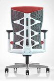 Navodesk ICON Chair, Premium Ergonomic Gaming & Office Chair by Navodesk (Red Mesh, White Frame)