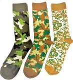 Camouflage Socks Set Of 3 Designs/Pair, Top Quality Long Lasting Material Can Be Used Daily, Size 39-42
