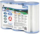 Intex Recreation Corp FBA_29003E Type A Filter Cartridge for Pools, Three Pack, 3