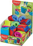 Maped Boogy 2 Hole Canister Pencil Sharpener - Assorted Colours (Pack of 24)