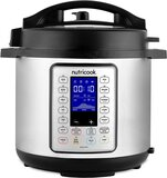 Nutricook Smart Pot Prime 1200 Watts - 10 in 1 Instant Programmable Electric Pressure Cooker - Stainless Steel/Black, 2 Years Warranty