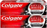 Colgate Optic White Charcoal Whitening Toothpaste 75ml Pack of 2