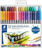 Staedtler Staedtler Double Fibre-Tip Pens w/ Two Impression-Proof Nibs Narrow and Wide Lines