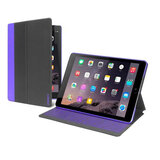 Cygnett Slim case with protective PC shell - Dark Grey / Purple -iPad 12''