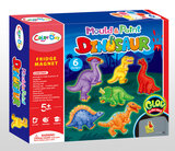 Brain Giggles DIY Mould and Paint Magnet Fridge (Dino)