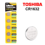 Toshiba CR1632 3V Lithium Coin Cell Battery One Pack of 5 batteries
