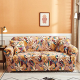 DEALS FOR LESS - 4 Seater Sofa Cover, Stretchable Couch Slipcover, Floral Design