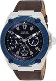 GUESS GUESS Mens Quartz Watch, Analog Display and Leather Strap - W1058G4