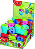 Maped Boogy 1 Hole Canister Pencil Sharpener - Assorted Colours (Pack of 30)
