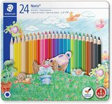 Staedtler Staedtler Noris Club 145 Cm24 Colouring Pencils In Castle Design Tin - Assorted Colours (Pack Of 24)