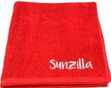 Sunzilla 100% Cotton Terry Spa Towel Red 80x180 cm 550 GSM