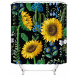 DEALS FOR LESS -Privacy Waterproof Shower curtain for Bathroom and Bath tab decor Sunflower Design.