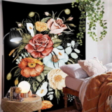 Deals For Less - Wall Tapestry Home Decor, Floral Design.