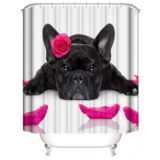 DEALS FOR LESS - Water Proof Shower Curtain, Cute Dog  Design
