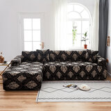 DEALS FOR LESS - L SHAPE Cover for 2 Piece 3 Seater Size Sofa , Stretchable Couch Slipcover Brown Bohemia Design