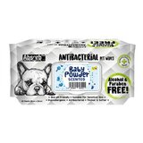 Absolute Pet Absorb Plus Antibacterial Pet Wipes Baby Powder 80 Sheets