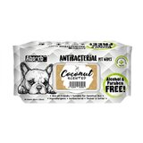 Absolute Pet Absorb Plus Antibacterial Pet Wipes Coconut 80 Sheets