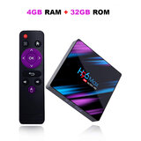 Wownect Android TV Box [4GB RAM 32GB ROM] RK3318 Quad-Core 64bit Processor H96 MAX Android Smart TV Box with Dual WiFi Bluetooth 4.0 4K Ultra HD 3D Video Support
