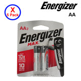 5 Pack Of 2-Piece AA Energizer Battery