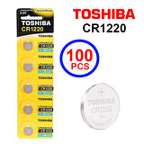 Toshiba CR1220 3V Lithium Coin Cell Battery One Box