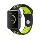 BeHello - Premium Apple Watch 42/44mm Silicone Strap - Black/Yellow