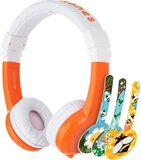 BuddyPhones - Explore Foldable Headphones with Mic - Orange