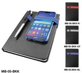 SS Promotional A5 Notebook with Calendar, Pocket & Pen Holder - Multicolored