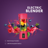 Multi-Design Portable & USB Rechargeable Battery Electric Juice Blender