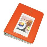 64 Pockets 3 Inch Piece of Moment Candy Color Fuji Instax Photo Mini Book Album or me Card for Instax Mini 70 7s 8 25 50s 90 (Orange)