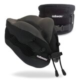 Cabeau - Evolution Cool Travel Pillow, Air Circulating Head and Neck Memory Foam Cooling Travel Pillow - Black