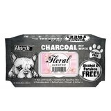 Absolute Pet Absorb Plus Charcoal Pet Wipes Floral 80 Sheets
