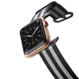 Casetify - Apple Watch Band Nylon Fabric All Series 38mm Black Stripes