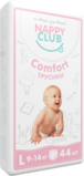 Nappy Club Comfort Pants Baby Diapers, Large (L), 9-14kg, 44 pieces