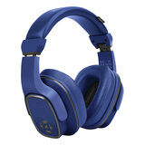 Promate Wireless Headphone with Speaker, 2-in-1 High Definition Bluetooth v5.0 Headphone with Built-in 6W Speaker, Mic, 12H Playtime -  Blue