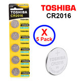 Toshiba CR2016 3V Lithium Coin Cell Battery fIVE Pack of 5 batteries