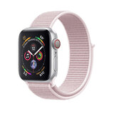 Promate Sports Loop Band for Apple Watch 42mm/44mm, Premium Nylon Weave Mesh Band for Apple Watch Series 1,2,3 and 4- Outdoor - Light Pink